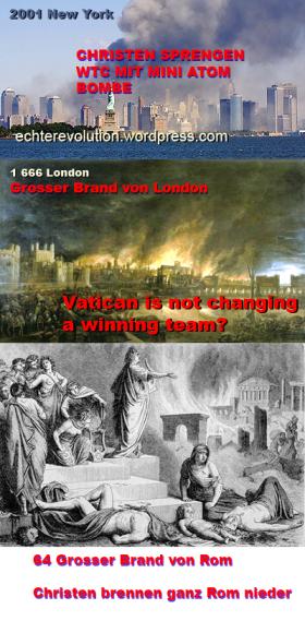 Christen legen alle Feuer selbst und versuchen dann ihre vermeintliche Prophetie damit zu beweisen.