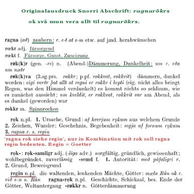 Walter Baetke Wörterbuch zur altnordischen Prosaliteratur digital