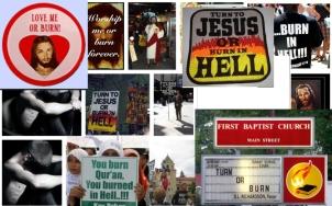 Versteckte Nachricht, dass die Christen alle foltern die nicht gehorchen, Turn or burn